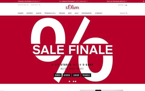 Screenshot of soliver.de - Mode, Kleidung und Accessories im s.Oliver Online Shop kaufen - captured Aug. 16, 2015