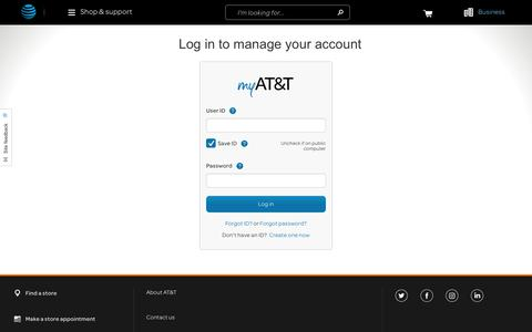 myAT&T Login - Pay Bills Online & Manage Your AT&T Account