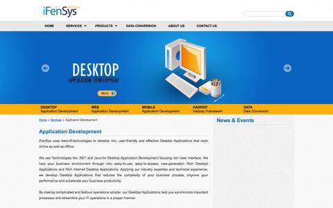 Screenshot of Services Page ifensys.com - iFenSys Software Solutions Pvt. Ltd | Application Development - captured Nov. 3, 2014