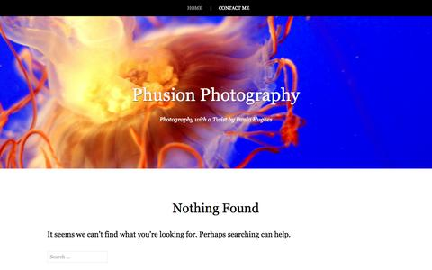 Screenshot of Home Page phusionphoto.com - Phusion Photography | Photography with a Twist by Paula Hughes - captured Oct. 2, 2014