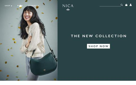 Screenshot of Home Page nica.co.uk - NICA | Official Online Store | Handbags and Accessories - captured Dec. 5, 2016