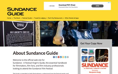 Screenshot of About Page sundanceguide.net - About this Site - Sundance Guide - captured Oct. 21, 2018