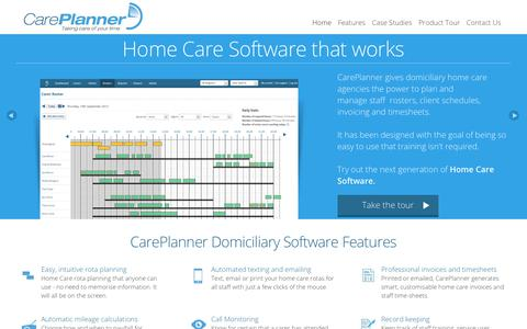Screenshot of Home Page care-planner.co.uk - Home Care Software - Domiciliary Software - CarePlanner - captured Sept. 26, 2018