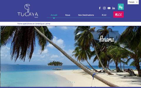 Screenshot of Home Page tucayatravel.com - Tucaya Travel Agence de Voyage - captured Oct. 19, 2018