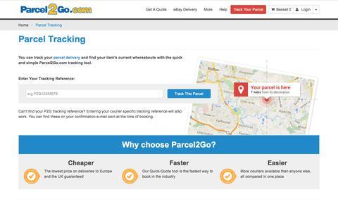 Parcel Tracking   Track My Parcel   Parcel Tracker   Track Delivery   Parcel2Go