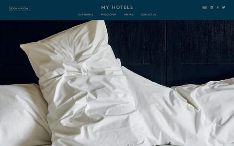 Screenshot of Home Page myhotels.com - My Hotels UK | Luxury Hotels Central London - captured June 17, 2015