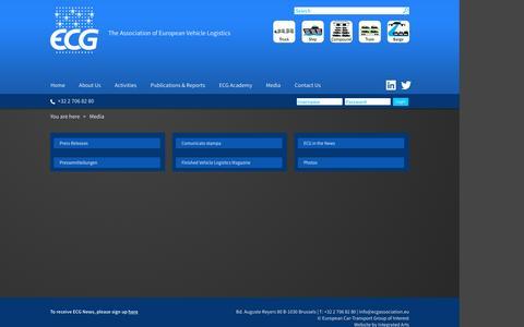 Screenshot of Press Page ecgassociation.eu - Media Resources - captured Oct. 4, 2016