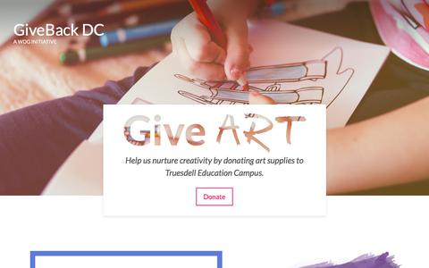 GiveBack DC - The Web Development Group