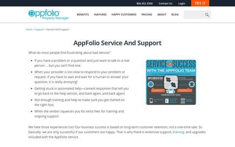 Screenshot of Support Page appfolio.com - AppFolio Help: Software Service & Support - captured Nov. 3, 2015