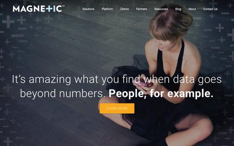 Screenshot of Home Page magnetic.com - Magnetic Platform   Marketing Solutions   Home - captured Oct. 1, 2015