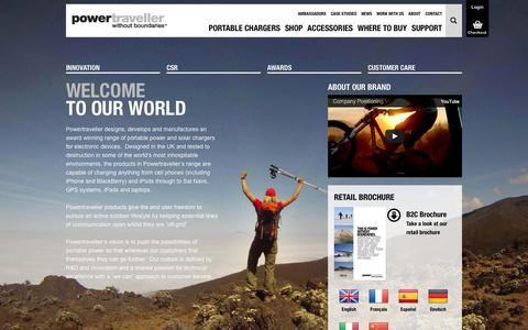 Screenshot of About Page powertraveller.com - About Powertraveller Ltd - captured Nov. 1, 2014