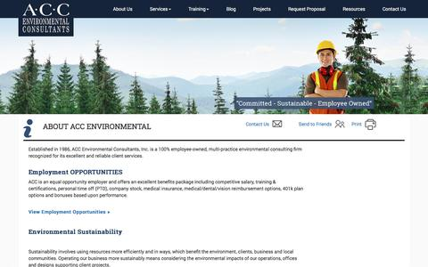 Screenshot of About Page accenv.com - Commercial Abatement Project Management | Commercial Environmental Consultants - captured Nov. 19, 2016