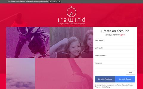 Screenshot of Privacy Page irewind.com - iRewind - captured Oct. 22, 2014