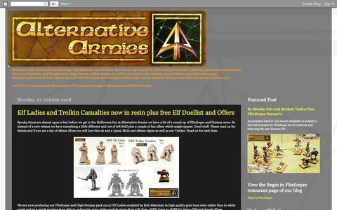 Screenshot of Home Page alternative-armies.blogspot.com - Alternative Armies - captured Oct. 22, 2018