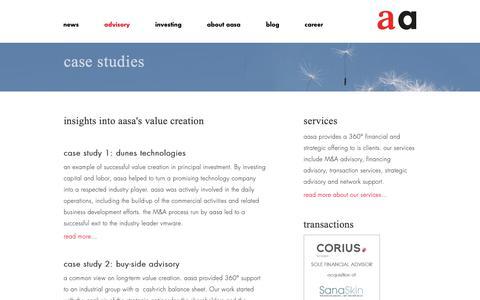 Screenshot of Case Studies Page aasa.com - aasa - case studies - captured Oct. 3, 2018