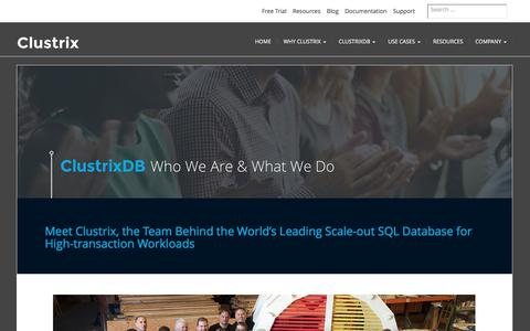 About Us | ClustrixDB, the World's Leading Scale-out SQL Database