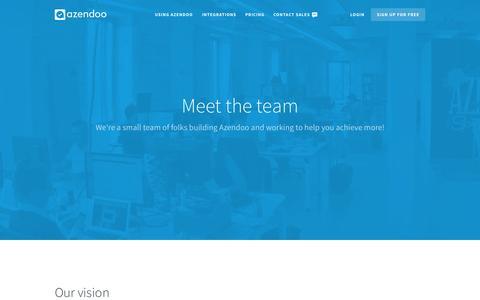 Screenshot of Team Page azendoo.com - Azendoo - Task Management Application - captured Nov. 5, 2015