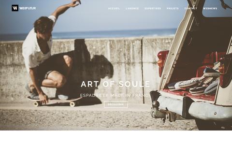 Screenshot of Home Page webfutur.com - Agence Digitale Bordeaux • e-commerce • référencement - captured Aug. 18, 2016