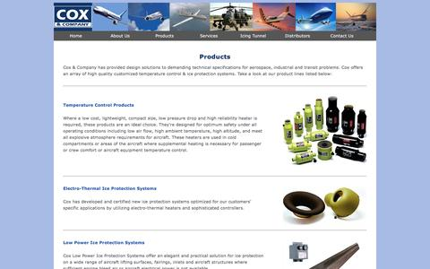 Screenshot of Products Page coxandco.com - Products - Cox & Company, Inc. - captured Nov. 13, 2016