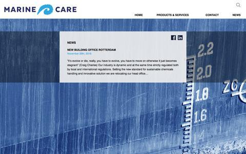 Screenshot of Press Page marinecare.nl - News - Marine Care - captured Oct. 6, 2017