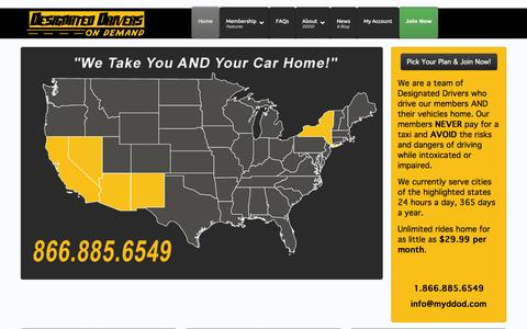 Screenshot of Signup Page designateddriversondemand.com - Home - Designated Drivers on Demand - captured Sept. 30, 2014
