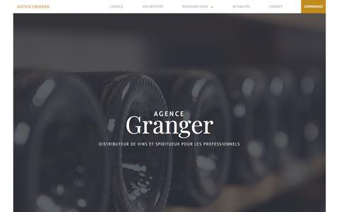 Screenshot of Home Page agence-gilles-granger.fr - Accueil • Agence Granger - captured July 29, 2018