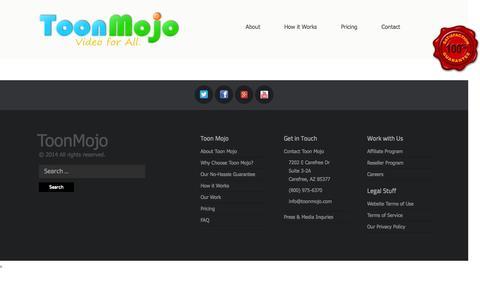 Screenshot of Press Page toonmojo.com - Press/Media | ToonMojo - captured Oct. 7, 2014
