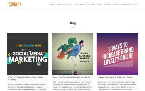 Screenshot of Blog shockmediastudio.com - Blog | Best Digital Marketing Agency Malaysia - captured May 29, 2018