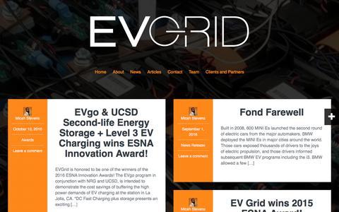 Screenshot of Press Page evgrid.com - Blog | EV Grid Inc. - captured July 12, 2017