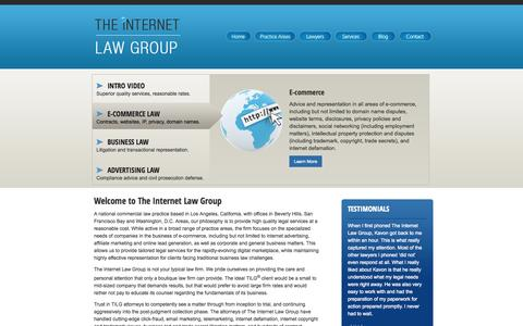 Screenshot of Home Page theinternetlawgroup.com - Internet Lawyer, Attorney | Trademark, Copyright, Defamation Lawyers & Attorneys Los Angeles CA - captured Sept. 26, 2014
