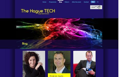Screenshot of Blog thehaguetech.nl - The Hague TECH: Blog - captured April 11, 2016