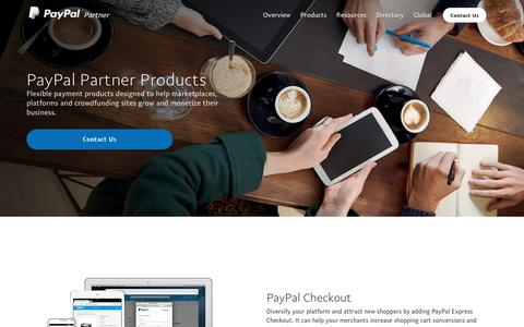 PayPal Partner Products - Helping Sites Grow and Monetize - PayPal US