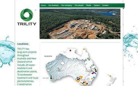 Screenshot of Locations Page trility.com.au - Locations   TRILITY - captured Nov. 9, 2017