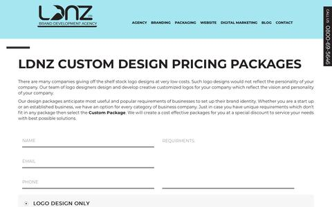 Screenshot of Pricing Page logodesignnewzealand.co.nz - Custom Graphic Design Prices and Packages - LDNZ Auckland - captured Sept. 25, 2018