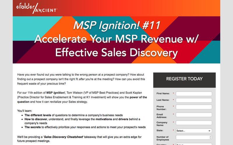 Sign Up for the MSP Ignition! Series - eFolder