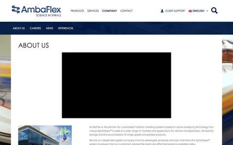 Screenshot of About Page Press Page Jobs Page ambaflex.com - Company | AmbaFlex - captured Oct. 8, 2017