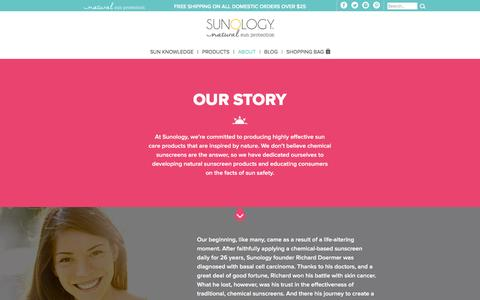 Screenshot of About Page sunology.com - About Us | Sunology - captured Feb. 12, 2016