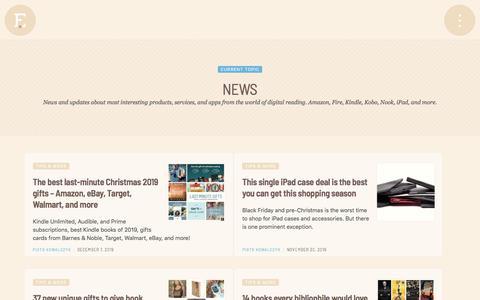 Screenshot of Press Page ebookfriendly.com - News   Ebook Friendly - captured Jan. 17, 2020