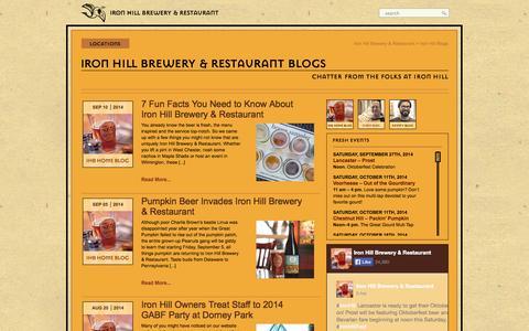 Screenshot of Blog ironhillbrewery.com - Iron Hill Brewery and Restaurant Blogs - captured Sept. 23, 2014