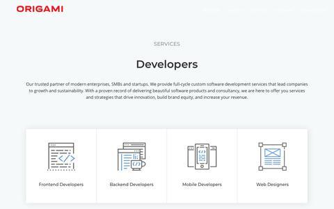 Screenshot of Developers Page origamistudios.us - Developers - Origami Studios - captured Nov. 17, 2018
