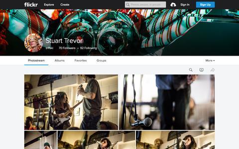 Screenshot of Flickr Page flickr.com - Stuart Trevor | Flickr - Photo Sharing! - captured Sept. 30, 2015