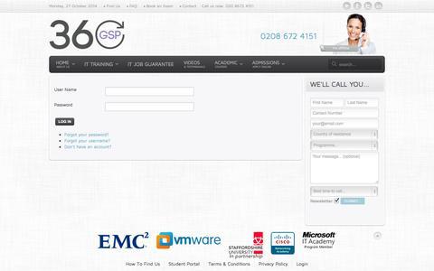 Screenshot of Login Page 360gsp.com - Login - captured Oct. 27, 2014