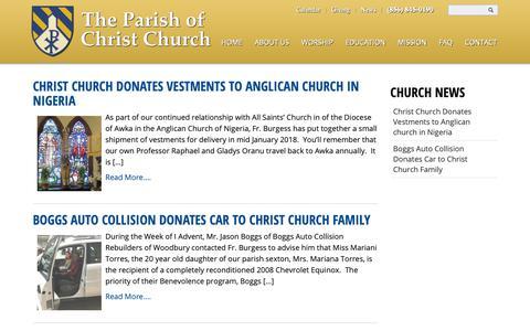 Screenshot of Press Page woodburynj.org - News   Christ Church, Woodbury, NJ - captured Sept. 28, 2018