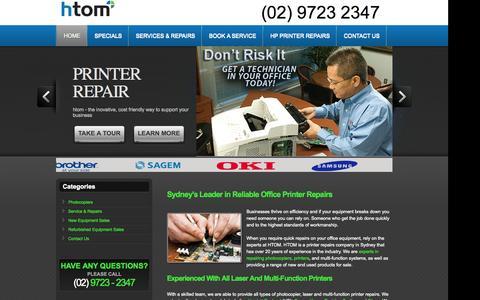 Screenshot of Home Page sydney-printerrepairs.com.au - Sydney Laser Printer & Photocopier Repairs | Printer Maintenance Sydney - captured Sept. 11, 2015