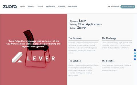 Screenshot of Case Studies Page zuora.com - Lever Case Study - Zuora - captured Sept. 11, 2017