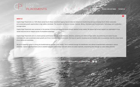 Screenshot of About Page cepsa.co.za - About us - captured Oct. 1, 2014