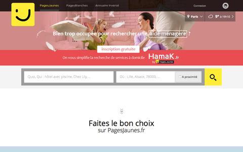 Screenshot of Home Page pagesjaunes.fr - PagesJaunes : trouvez plus que des coordonnées avec l'annuaire des professionnels - captured Feb. 27, 2017