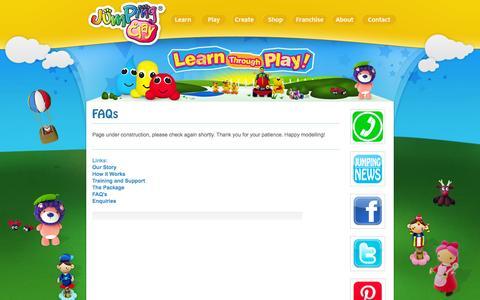 Screenshot of FAQ Page jumpingclay.co.uk - FAQs | Jumping Clay - captured Oct. 6, 2014