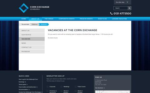 Screenshot of Jobs Page edinburghcornexchange.com - Jobs | Edinburgh Corn Exchange - captured July 16, 2018
