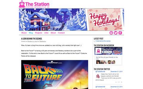 Screenshot of Blog station-interactive.com - Blog | The Station - captured Jan. 13, 2016